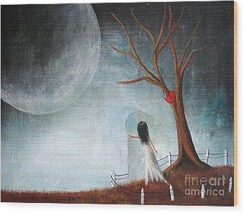 Wait Here I'll Be Right Back By Shawna Erback Wood Print by Shawna Erback