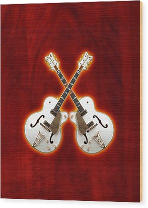 Waite Gretsch Wood Print by Doron Mafdoos