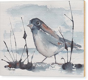 Wood Print featuring the painting Waiting by Anne Duke