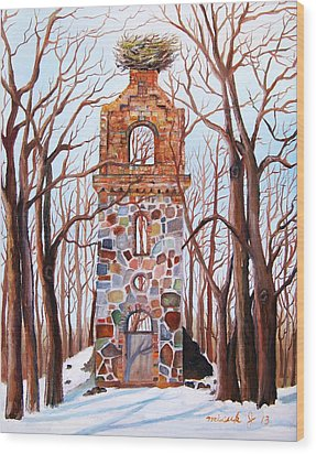 Waiting At Church Ruins  Wood Print