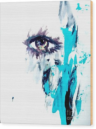 Waiting Eye Wood Print by Trilby Cole