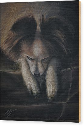 Waiting For Bed - Pastel Wood Print