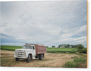 Wood Print featuring the photograph Waiting For Harvest by Dawn Romine
