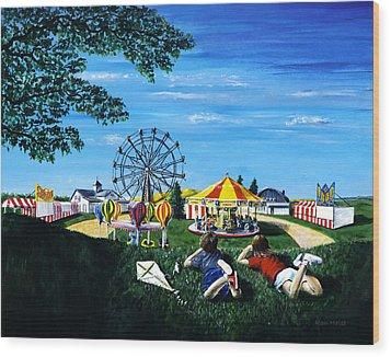 Waiting For The Fair Wood Print by Ron Haist