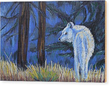 Waiting For The Pack Wood Print by Harriet Peck Taylor