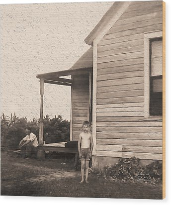 Waiting For The Rain Wataga Illinois 1944 Wood Print