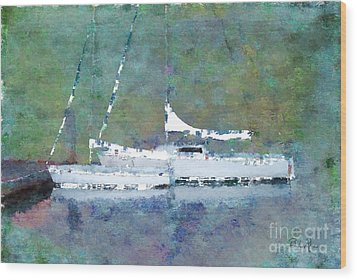 Waiting For The Wind Wood Print by Betty LaRue