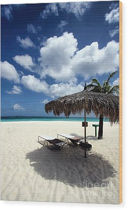 Wood Print featuring the photograph Waiting For You In Aruba by Polly Peacock