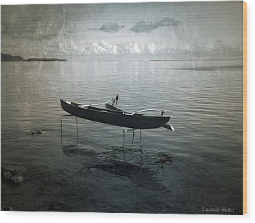 Wood Print featuring the photograph Waiting In Blue by Lucinda Walter