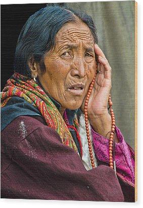 Waiting In Dharamsala For The Dalai Lama Wood Print by Don Schwartz