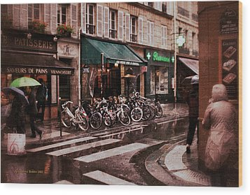 Waiting In The Bar For The Rain To Pass #2 Wood Print by Aleksander Rotner