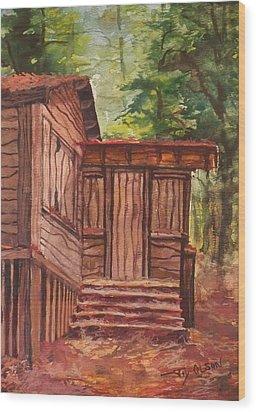 Waiting Wood Print by Joy Nichols