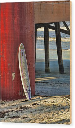 Wood Print featuring the photograph Waiting by Kenny Francis