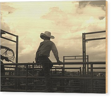 Waiting To Ride Wood Print by Feva  Fotos