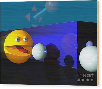 Wood Print featuring the digital art Waka Waka Waka by Tony Cooper