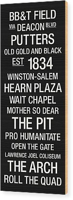 Wake Forest College Town Wall Art Wood Print by Replay Photos