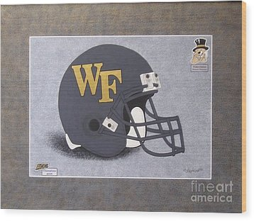 Wake Forest T-shirt Wood Print by Herb Strobino