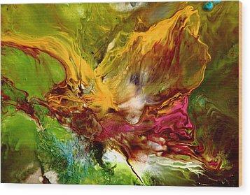 Wake Me Up Original Abstract Art Wood Print by Serg Wiaderny