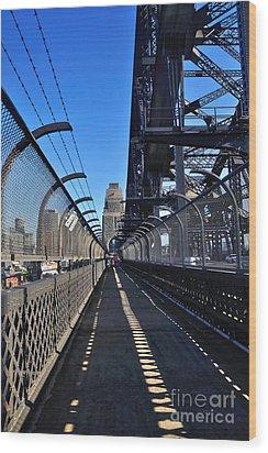 Walk Across Sydney Harbour Bridge Wood Print by Kaye Menner