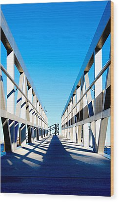 Walk Away Wood Print by Greg Fortier