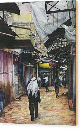 Walk Home Through Antiquity Old Jerusalem Wood Print by Gaye Elise Beda
