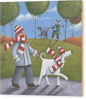 Walk In The Park Wood Print by Peter Adderley