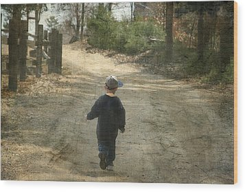 Walk On The Road  Wood Print by Betty  Pauwels