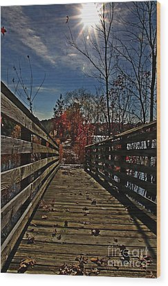 Walk The Line Wood Print by Scott Allison
