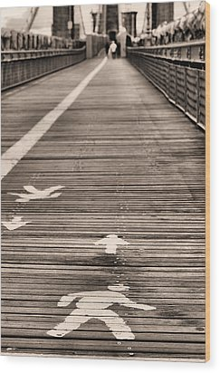 Walk This Way Wood Print by JC Findley