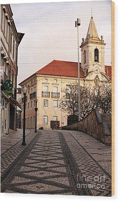 Walk To The Church Wood Print by John Rizzuto