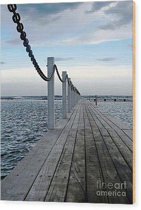 Walk To The Ocean Wood Print by Kaye Menner