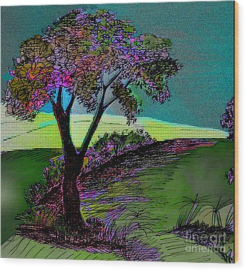 Walk With Me Wood Print by Iris Gelbart