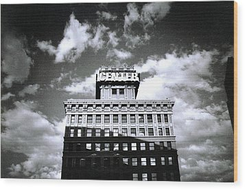 Walker Building Wood Print by Tarey Potter