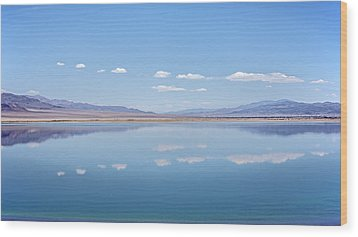 Walker Lake Mirror Wood Print