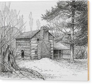 Walker Sisters' Farm House Wood Print by Bob  George