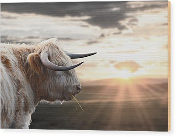 Walker The Highlander Wood Print