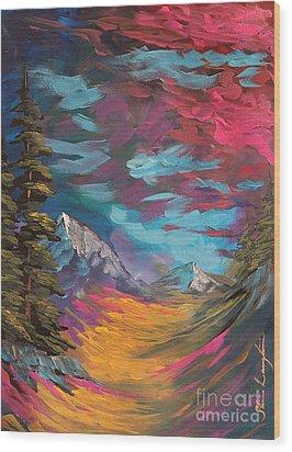 Walking Alone Wood Print by Steven Lebron Langston