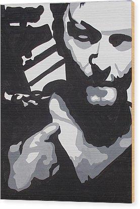 Walking Dead Daryl Close Wood Print by Marisela Mungia