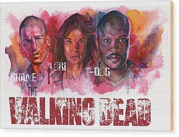 Walking Dead Dead Wood Print by Ken Meyer