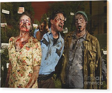 Walking Dead Wood Print by Nina Prommer