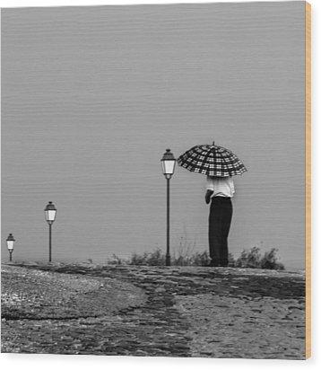 Walking In The Time Wood Print by Edgar Laureano