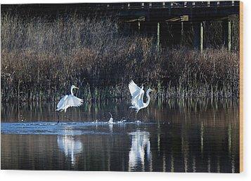 Walking On Water Wood Print by Paulette Thomas