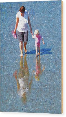 Walking On Water Wood Print by Steve Taylor