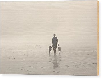 Walking The Dog Florentia Wood Print