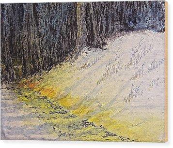 Walking The Shadowed Path Wood Print