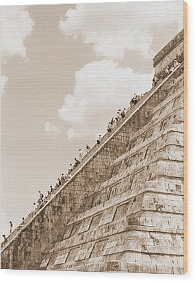 Walking Up The Pyramid Wood Print by Kirt Tisdale