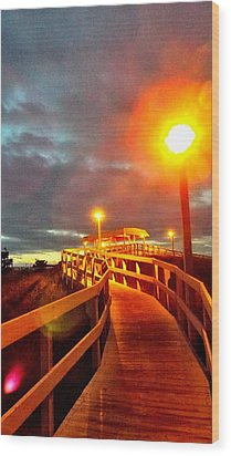 Walkway To Atlantic Wood Print