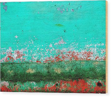 Wood Print featuring the digital art Wall Abstract 111 by Maria Huntley