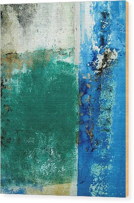 Wood Print featuring the digital art Wall Abstract 159 by Maria Huntley