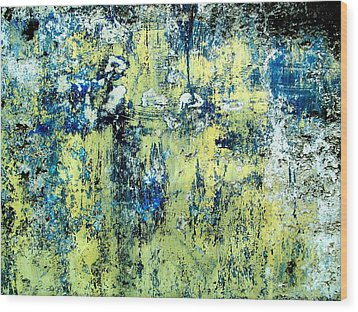 Wood Print featuring the digital art Wall Abstract 27 by Maria Huntley